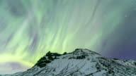 4K Time-lapse: Northern Light Aurora Borealis at VIK Southern Iceland