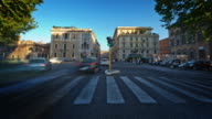 Time-lapse of a busy street in Rome.