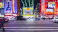 4K Time-lapse of Akihabara district in Tokyo, Japan. (zoom in camera)