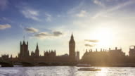 Timelapse of Big Ben and River Thames, London