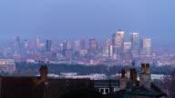 LONDON: TimeLapse of Canary Wharf at Sunrise