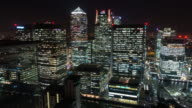 LONDON: TimeLapse of Canary Wharf Skyline from Rooftop