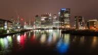 LONDON: TimeLapse of Canary Wharf Skyline