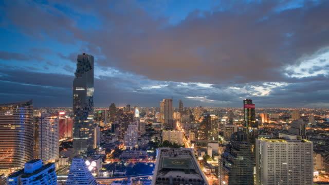 Time-lapse of Central Business District Thailand, Cityscape , bangkok landmark