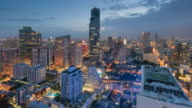 Time-lapse of Central Business District Thailand, Cityscape , bangkok landmark