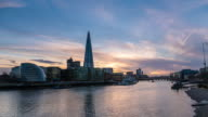 LONDON: TimeLapse of City Hall and the Shard at sunset