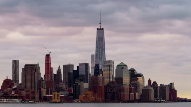 Timelapse of Clouds Rolling Over One World Trade Center