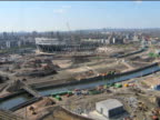 Timelapse of construction of 2012 Olympic site April 2009