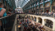 LONDON - TimeLapse of Covent Garden market