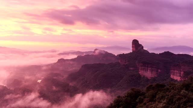 Timelapse Of Danxia Mountain
