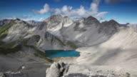 timelapse mit dramatischen Himmel in den Alpen, tirol, Österreich