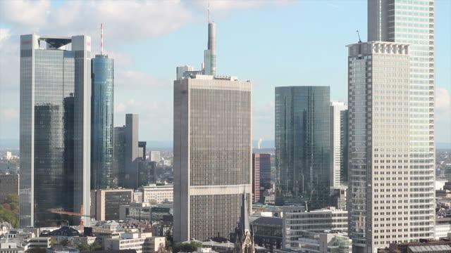 Timelapse of Frankfurt banking district Skyline