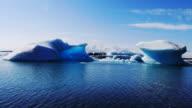 HD 1080 timelapse of glacier lake Jokulsarlon. South Iceland