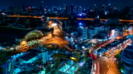 Time-lapse of Hua Lumphong intersection in Bangkok, Thailand