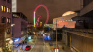 LONDON: TimeLapse of London Eye and Big Ben in the evening