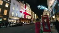 LONDON: TimeLapse of London New Bond Street Christmas decoration
