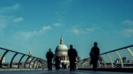 Time-lapse of Millennium Bridge and St Paul's Cathedral, London, UK