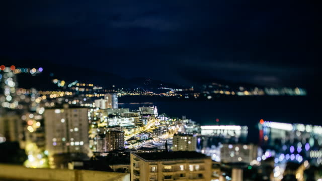 Time-lapse of Monaco at night