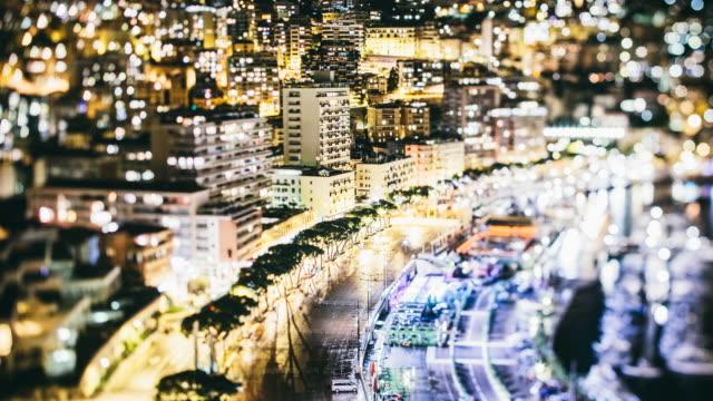 Time-lapse of Monaco at night