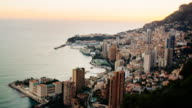 Time-lapse of Monaco in the evening