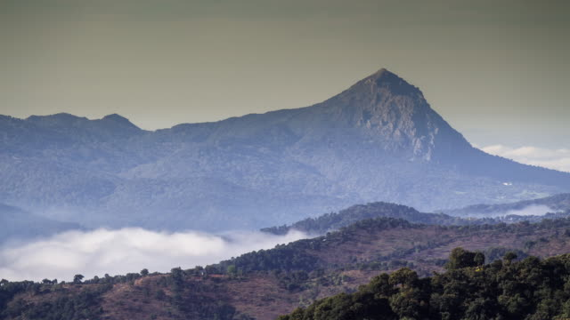 Timelapse of Morning Fog in Malaga Mountains