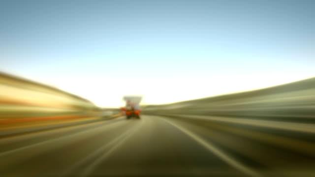 Time-Lapse of Motorway Driving Loop. HD