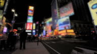 Time-Lapse of Night in Times Square