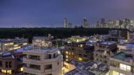 Timelapse of Nightfall on Yoyogi Park from Harijuku, Tokyo