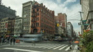 Time-lapse of NYC street crossing