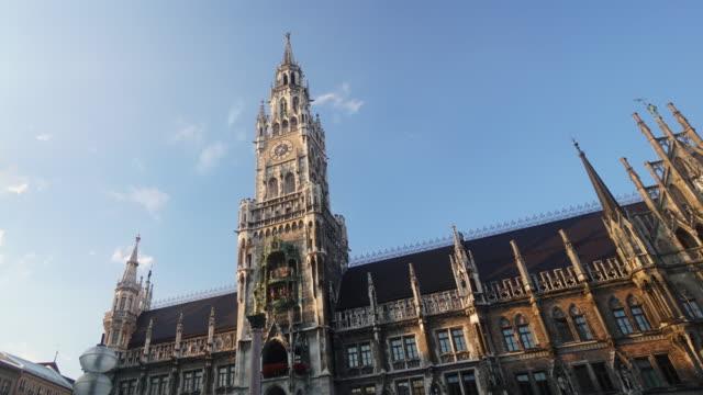 Zeitraffer von überfüllten am Marienplatz entfernt