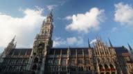 Time-lapse of Pedestrian crowded at Marienplatz