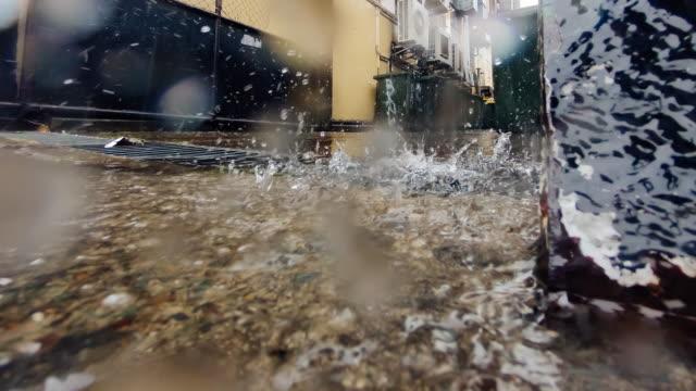 4K timelapse of raining over the camera