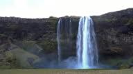 Time-lapse van Seljalandsfoss waterval, IJsland