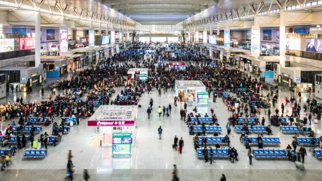 timelapse of shanghai's hongqiao train station