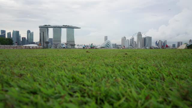 Timelapse of Singapore Skyline From Marina Barrage