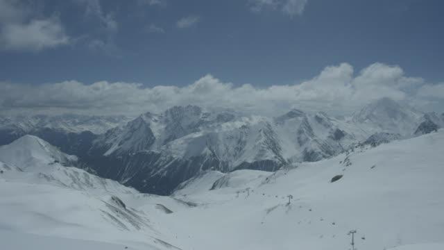 Timelapse of ski lift and ski slope in the Alps in Tyrol, Austria.