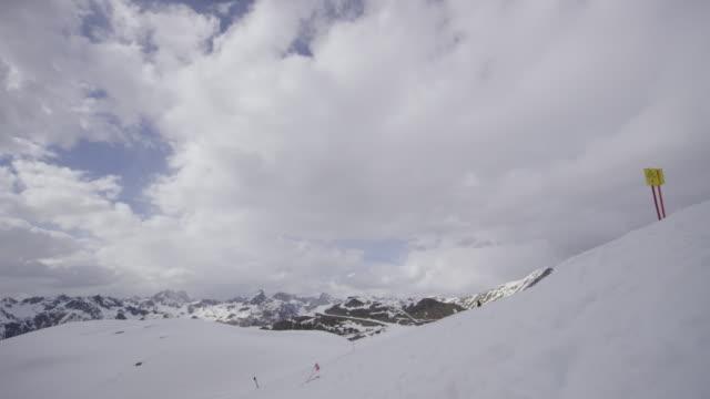 Timelapse of ski slope in the Alps in Tyrol.