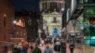 LONDON: TimeLapse of St Paul Christmas tree from distance