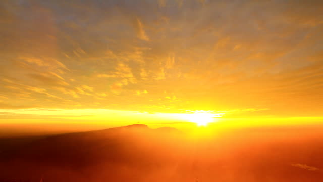 Timelapse of Sunrise and fog