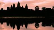 Timelapse of Sunrise on Angkor Wat Temple