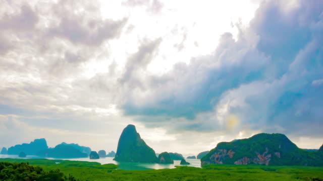 Timelapse of sunrise over the mountain, Samet nang she
