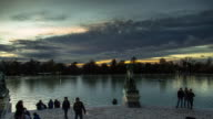 Timelapse of Sunset From Monument to Alfonso XII, Buen Retiro Park, Madrid