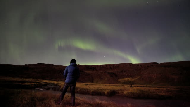 Time-lapse of the Aurora Borealis, Northern lights