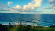 Time-lapse of the beach and landscape of Ballina, New South Wales, Australia. tilt shift effect
