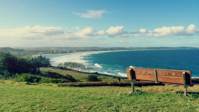 Time-lapse of the beach and landscape of Ballina, New South Wales, Australia