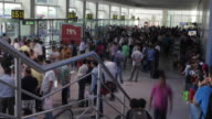 Time-lapse of the busy boarding gates and check in counters at the IGI Airport, New Delhi