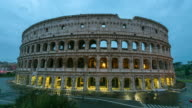 Timelapse of the Colosseum at sunrise, Rome, Italy