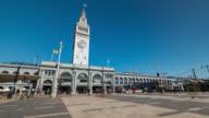 SAN FRANCISCO: TimeLapse of The Embarcadero and Harry Bridges Plaza