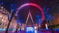 LONDON: TimeLapse of the London Eye during Christmas