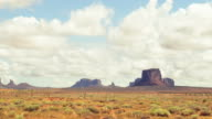 Zeitraffer des Monument Valley tribal-Nationalpark